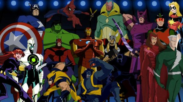 Personagens da cancelada The Avengers Earth's Mighty Heroes