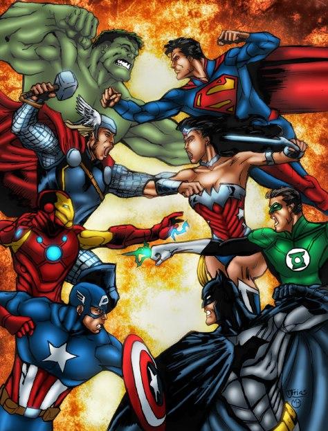 avengers_vs__justice_leagpor marcbourcier-d50koj3