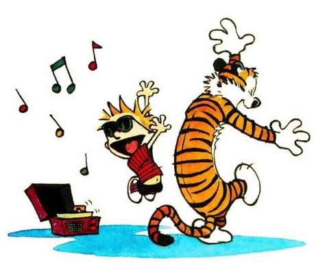 calvin hobbes dance