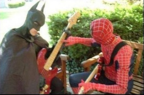 Batman - Spiderman - Guitar
