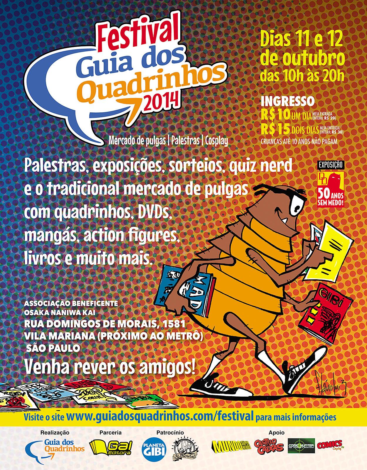50bd43782a1 Aí Meu Bolso! Festival Guia dos Quadrinhos Acontece esse Fim de ...