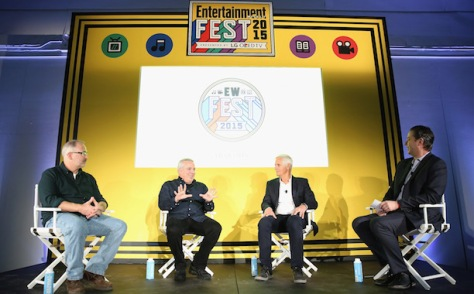 Chris Carter, Glen e Darin Morgan na EW Fest