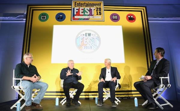 Chris Carter, Glen e Darin Morgan na EW Fest