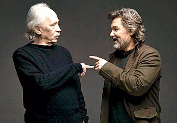 Carpenter reencontra Kurt Russel em foto recente