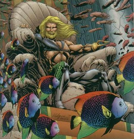 Esqueça a versão cara limpa dos Novos 52! Aquaman barbudo do Peter David melhor Aquaman...